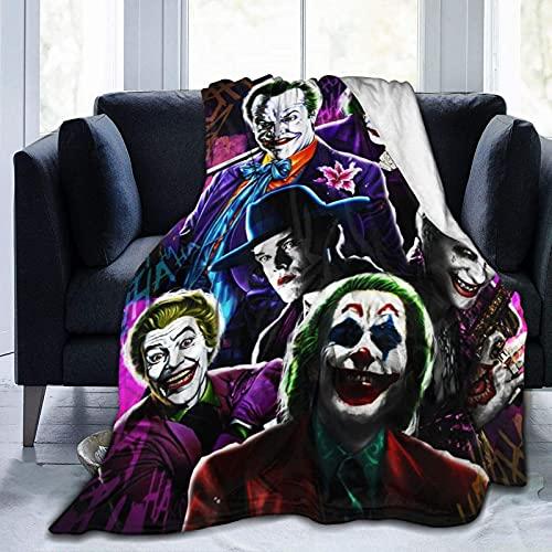 Joker Mantas Mantas de franela de felpa de forro polar acogedor sofá para dormitorio sofá hogar oficina playa picnic viaje coche siesta