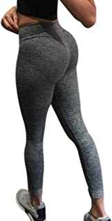 BSGSH Yoga Pants for Women Sexy Butt Lifting High Waist Skinny Tummy Control Ruched Activewear Leggings