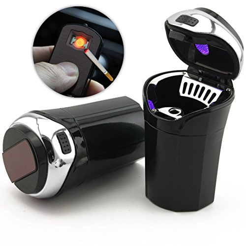 TAKAVU RR-2-3-1 Car Ashtray, Easy Clean Up Detachable Stainless Car...