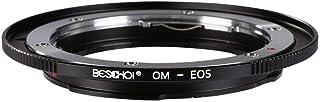Adaptador OM-EOS Beschoi Anillo Adaptador de Montura de Lente Olympus OM para Montar a Sistema de Canon EOS EF y SLR Cameras OM-EOS