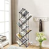 Cretee 160 cm Metall Bücherregal in Baumform 11 Regalwürfel schwartzer Raumteiler für Schlafzimmer Wohnzimmer Lernzimmer Büro Vintage Storage Organizer