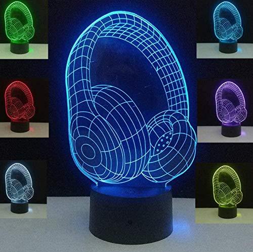 YOUPING Lámpara de mesa de ilusión 3D, 7 colores cambiantes, lámparas de mesa táctiles de acrílico luces de noche RGB USB LED de la luna de la lámpara de lava
