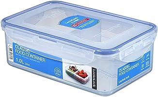 Lock & Lock Rectangular Container With Dividers, 1 Liter HPL817C