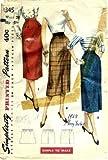 Simplicity 1345 Sewing Pattern Misses One-Yard Slim Skirt Waist 26