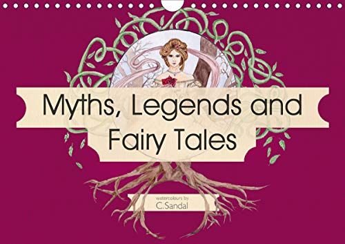 Myths, Legends and Fairy Tales (Wall Calendar 2020 DIN A4 Landscape): Art nouveau inspired watercolours by Christine Sandal (Monthly calendar, 14 pages )