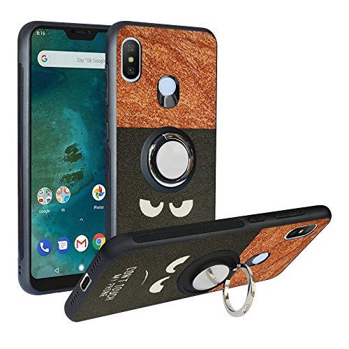 Funda para Xiaomi Mi A2 Lite, Fashion Design [Antigolpes] con 360 Anillo iman Soporte, Resistente a los arañazos TPU Funda Protectora Case Cover para Redmi 6 Pro,Do Not Touch