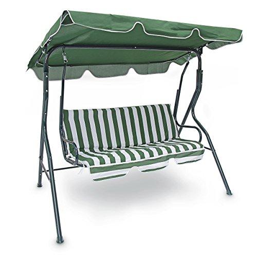 Relaxdays 10018873 Hollywood Meuble de Jardin Balancelle avec Toit 3 Places