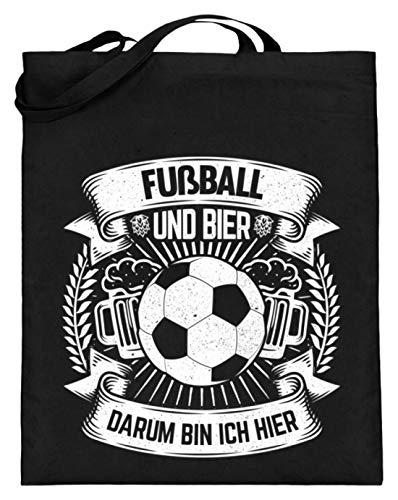 Chorchester voor voetbal- en bierfans - jute zak (met lange handvatten)