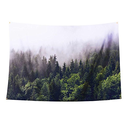 Roslynwood Tidy Decor Highway on The Road Trip to Endless Mountain,Fabric Wall Tapestry Home Decor Boho Hippie Wall Hanging