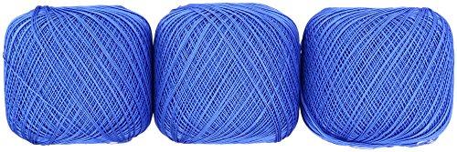 オリムパス製絲 金票 レース糸 #40 Col.366 ブルー 系 50g 約445m 3玉セット