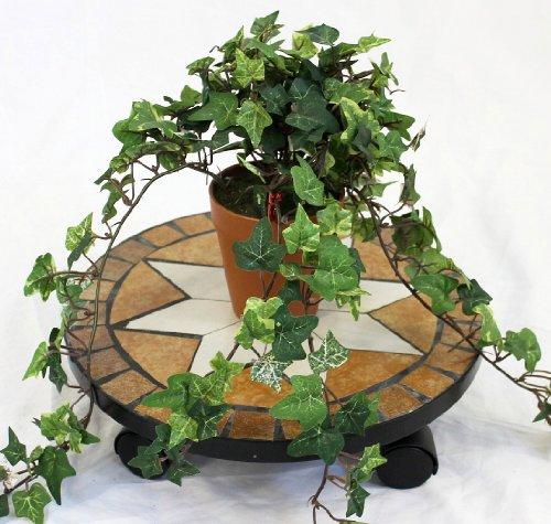 Preisvergleich Produktbild DanDiBo Blumenroller Merano Mosaik 32 cm 12025 Blumenhocker Pflanzroller Blumenständer