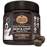 BRUTUS & BARNABY Omega 3 Fish Oil for Dogs - Easy to Deliver Skin and Coat Soft Chew, Coconut Oil,...