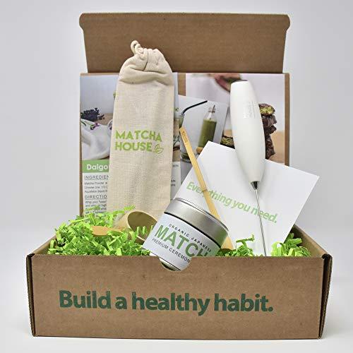 Matcha Green Tea Starter Kit- Traditional Matcha with Modern Convenience Tea Starter Kit includes one Complete Matcha Tea Tin 30 Gram