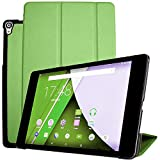 for Google Nexus 9 8.9 inch Tablet Smart Cover, Ultra Slim Lightweight Folio Stand with Sleep/Wake Up Function Leather Case for HTC op821 8.9' +1x Soft Clear Screen Protector (Green)