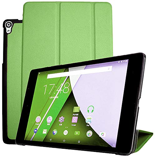 "for Google Nexus 9 8.9 inch Tablet Smart Cover, Ultra Slim Lightweight Folio Stand with Sleep/Wake Up Function Leather Case for HTC op821 8.9"" +1x Soft Clear Screen Protector (Green)"