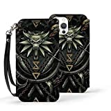 Wit-Cher Case for iPhone 12 Not for 11 Fashion Personality Pu Leather Wallet Case with Card Pockets Back Flip Cover for iPhone 12