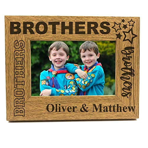 Brothers Sentiment Personalised Photo Frame Gift (4 x 6 Inch)