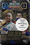 Match Attax 2020 2021 Topps UEFA Champions League Soccer Trading Card Game Sealed MEGA Collector's Tins with Bonus Gold Cards and Exclusive Inserts (Golden Goal Scorers)