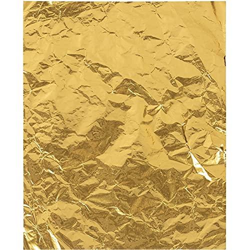 Envoltorios de Caramelo en aluminio dorado (15,2 cm x 19 cm, Paquete de 200)
