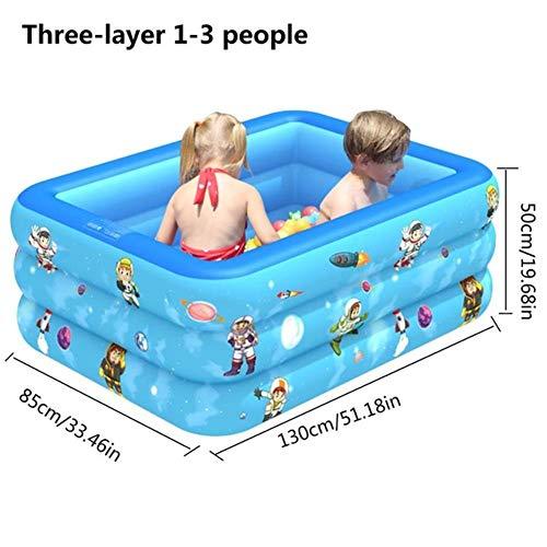 MANWEI Piscine 150 / 180Cm Piscine Gonflable PVC Épaissie 3 Anneaux Paddling Pool Baignoire Baignoire Piscine D'Été pour Adultes Enfants Piscina, I