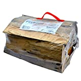 Timbertote 0.75 Cubic Feet Natural Hardwood Mix Fire Log Firewood Bundle for Fireplaces, Campfires, Firepits