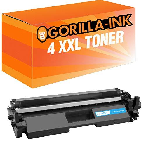 Gorilla-Ink Toner XXL MET CHIP compatibel met HP CF294A   geschikt voor HP Laserjet Pro M118DW MFP M148FW M148FDW M148DW M148DW   zwart 1.200 pagina's (04) 4 Toner Black