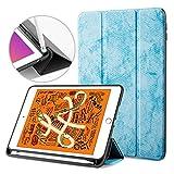 MOCA [Flexible Back] Smart flip Cover case for Apple iPad 9.7 inch 2017 2018 iPad 5th 6th Generation A1893 A1954 A1822 A1823 Smart case Cover (Light Blue)
