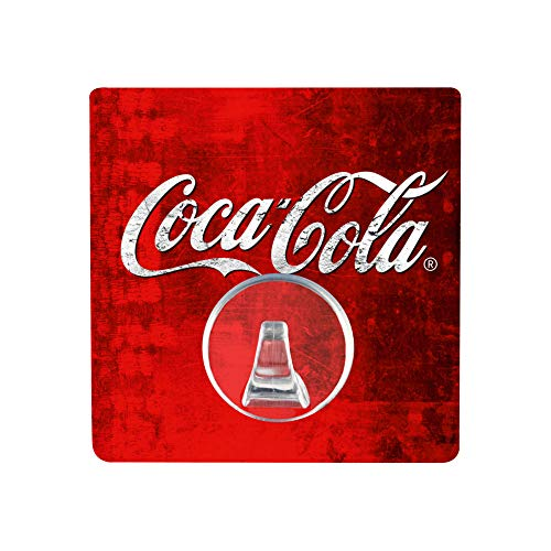 WENKO Static-Loc® Wandhaken UNO Coca-Cola rot