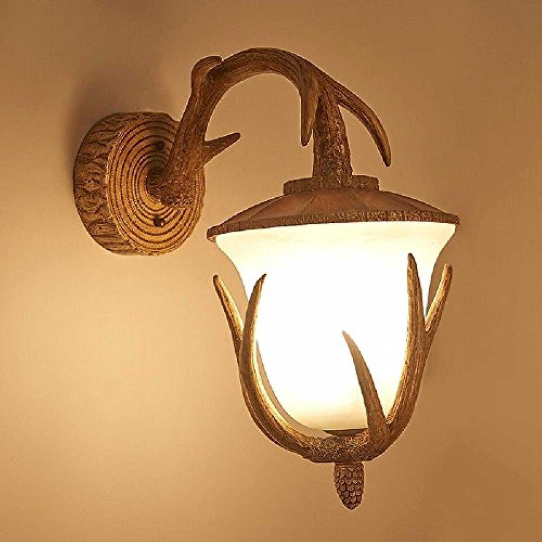 StiefelU LED Wandleuchte nach oben und unten Wandleuchten Schlafzimmer treppen Geweih Wand leuchten Wandleuchte antik Nachttischlampe über Landschaft, Wohnzimmer Wand Lampen C
