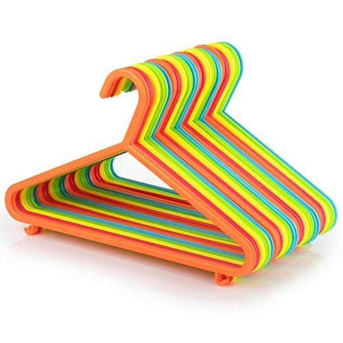 Hangerworld - Perchas para Niños (29 cm) Pantalones, Plástico. Colores Mixtos -40 Unidades
