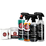 Adam's Graphene Ceramic Coating Detailing Kit – Auto Detailing with Clay Bar, Iron Remover,...