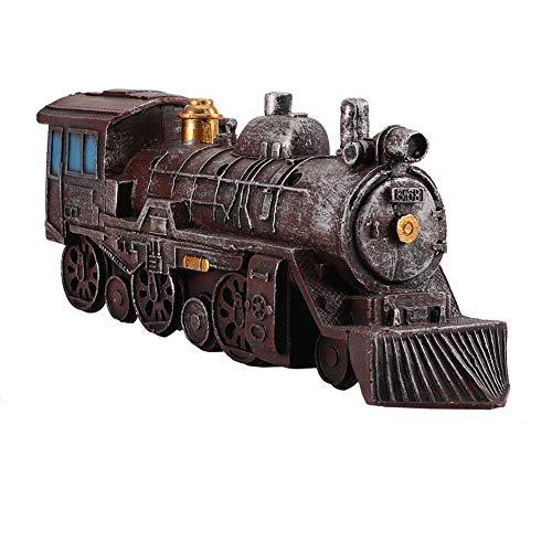 Gojiny Decoración de motor de vapor de bronce antiguo, decoración de ventana, modelo de motor de vapor, decoración para hogar, oficina, cafeterías, restaurantes