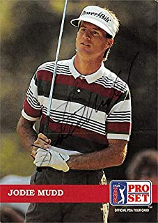 Jodie Mudd autographed trading card (Golf, PGA Tour, Georgia Southern, SC) 1992 Pro Set #8