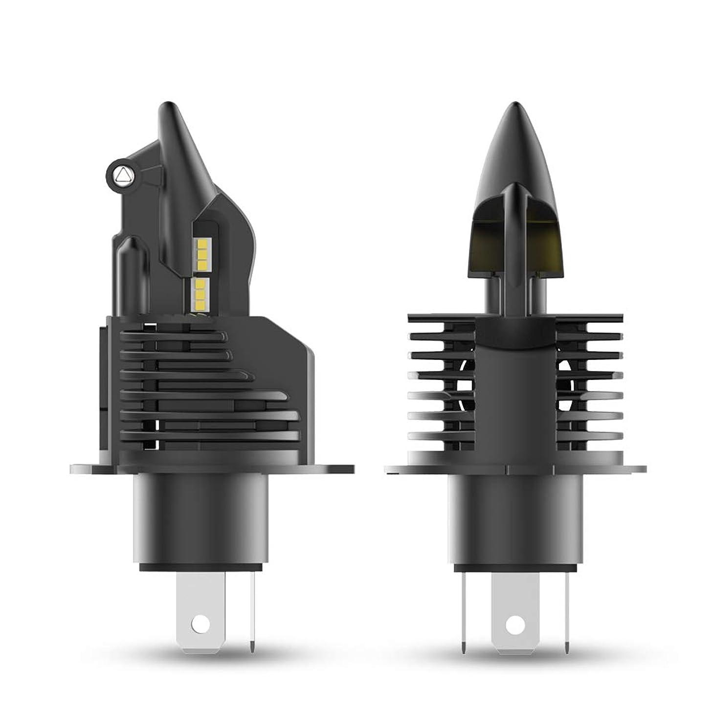 仲介者ライン洗剤NOVSIGHT 車/バイク用 LEDヘッドライト 6500K H4hi/lo 2年保証 2個セット