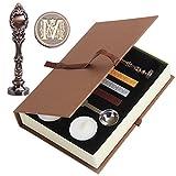 Wachs Siegel Stempel, puqu Vintage Buchstabe Buchstaben Metall Griff Wachs Umschlag Siegel Stempel...