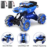 RC Cars Stunt Truck, Theefun 1:12 360°Rotation Drift Remote Control Car All Terrain Climb RC Crawler Off Road Monster Truck with Lights & Music for Boys and Adults
