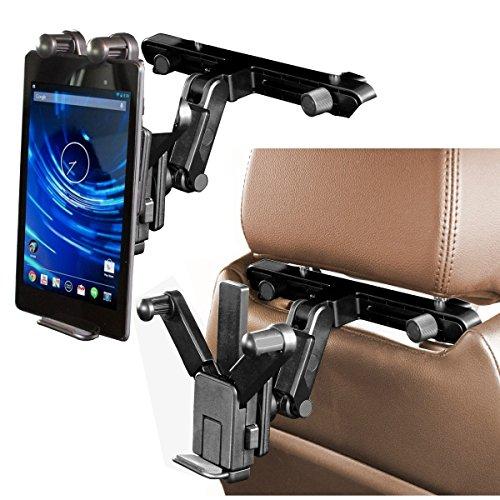 Navitech In Car Back Seat Headrest Mount For The Lenovo Yoga Tablet 10 / Lenovo IDEATAB S6000 TABLET / Lenovo Miix 10 / Lenovo THINKPAD TABLET 2 / Lenovo IDEATAB LYNX / Lenovo THINKPAD HELIX