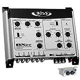 1 crossover elettronico compatibile con BOSS AUDIO SYSTEMS BX55 2/3 vie equalizzatore front/rear/subwoofer controllo remoto subwoofer incluso,1 pezzo