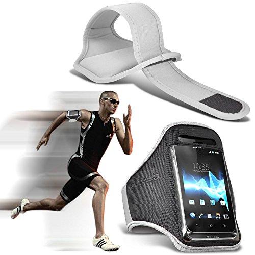 i-Tronixs (Weiß) Doogee T6 pro hülle, Tasche hohe Qualität mit Sport Armbänder mit dem Fahrrad Radfahren Fitnessraum Jogging befreien Armband hülle, Case
