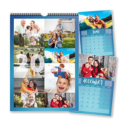 Calendario 2020 personalizado 12 fotografías una foto cada mes – Planificador familiar día semana Mensual-Gran regalo Amigos Familias Regalo de Navidad o Año Nuevo personalizado calendario