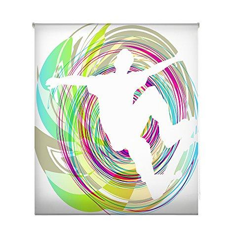 HappyStor HSCJ6868 Estor Enrollable Estampado Digital Juveniles Tejido Traslúcido Medida Total Estor:170x180 (**Solo Ancho Tela:166-167cm.**)
