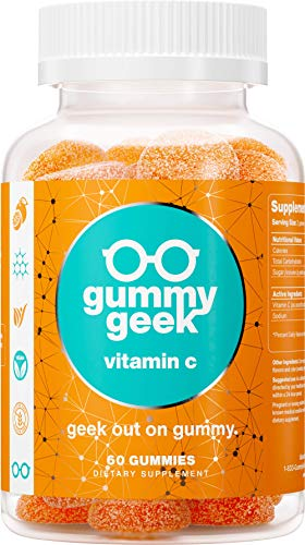 Gummy Geek: Vitamin C Gummies - Nutritional Supplement for Antioxidant and Immune Support - 60 Count - 250 mg per Serving - Citrus Blast Flavor - All Natural, Non-GMO - Easy to Chew