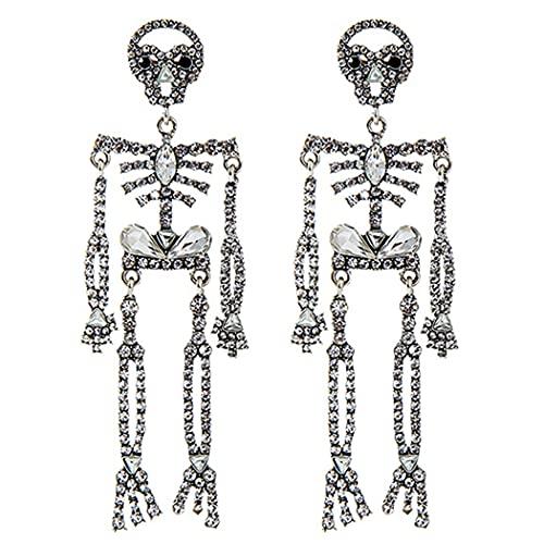 Halloween Ohrringe Mode Gothic Skelett Anhänger Ohrringe Statement Ohrringe