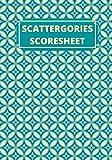 Scattergories Scoresheet: Game Record Keeper Book, Scorekeeping Pads, Scoring Sheet, Indoor Games...