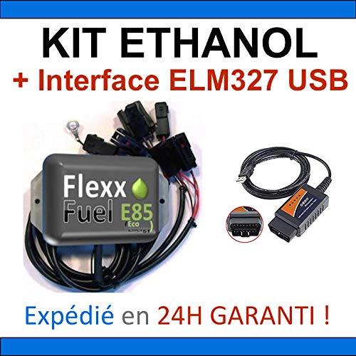 pas cher un bon Kit Ethanol E85 + Interface de Diagnostic USB ELM327 – 4 Cylindres, Kit Flex Fuel, Kit DE…