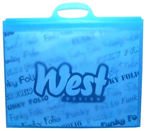 West Design, valigetta portadocumenti, formato A3, colore blu