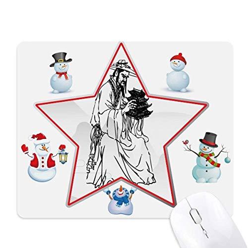 ppriest dao religion encre de chine le bonhomme de neige étoile tapis de souris