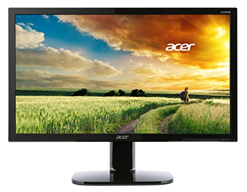 Acer KA220HQbid Monitor da 21.5', Display Full HD 1920x1080, Frequenza 60 Hz, Contrasto 100M:1, Luminosità 200 cd/m2, Tempo di Risposta 5ms, VGA, DVI (w/HDCP), HDMI, Nero