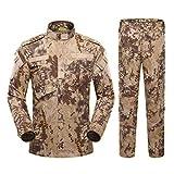 Uniforme Militar del ejército para Hombres, Traje táctico, Camisa de Combate, Abrigo, pantalón, Conjunto de Camuflaje, Ropa de Soldado Militar Color5 Set XS
