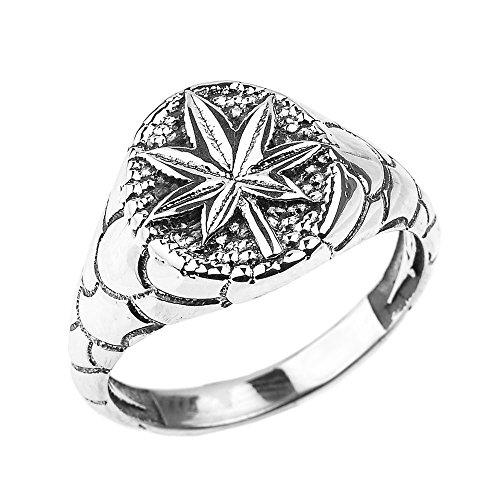 Men's Fine Jewelry 925 Sterling Silver Cannabis Marijuana Leaf Unisex Ring (Size 11)
